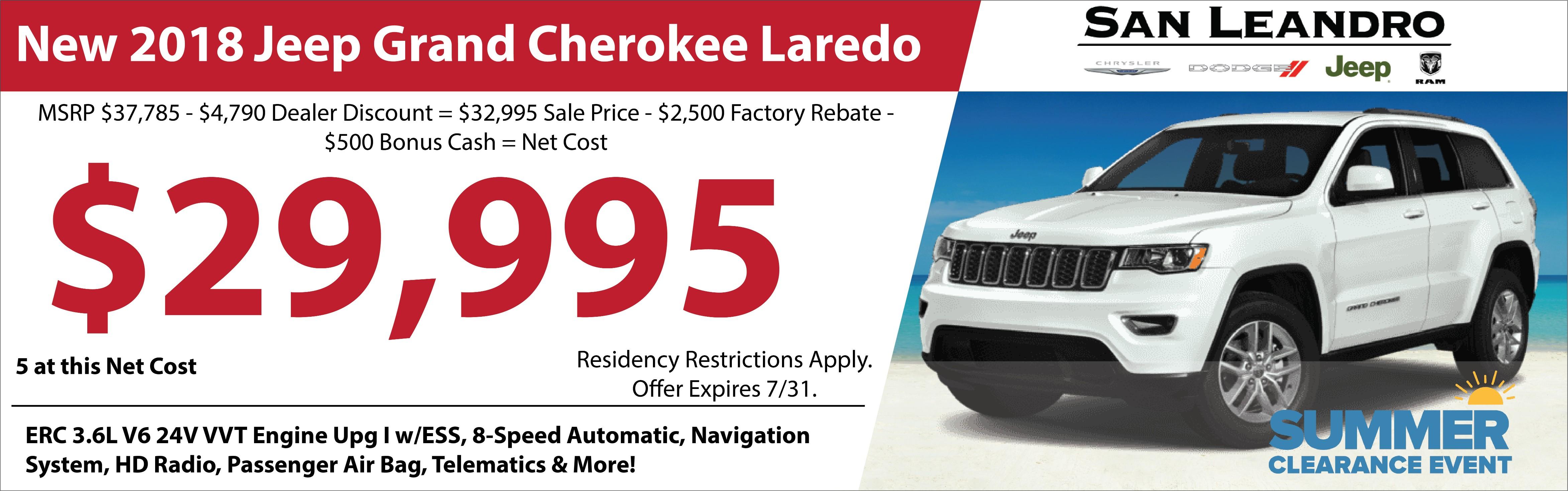 New Chrysler Dodge Jeep Ram Specials San Leandro CA