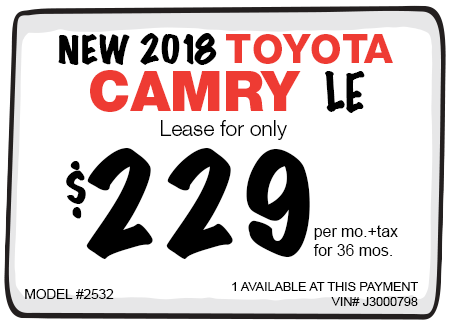 New 2017 Toyota Camry LE Lease Offer