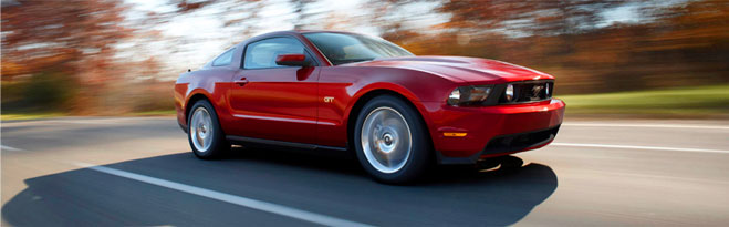 Ford Red Mustang