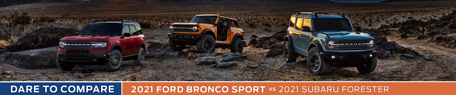 2021 Ford Bronco Sport vs. 2021 Subaru Forester - Sun State Ford - Orlando, FL