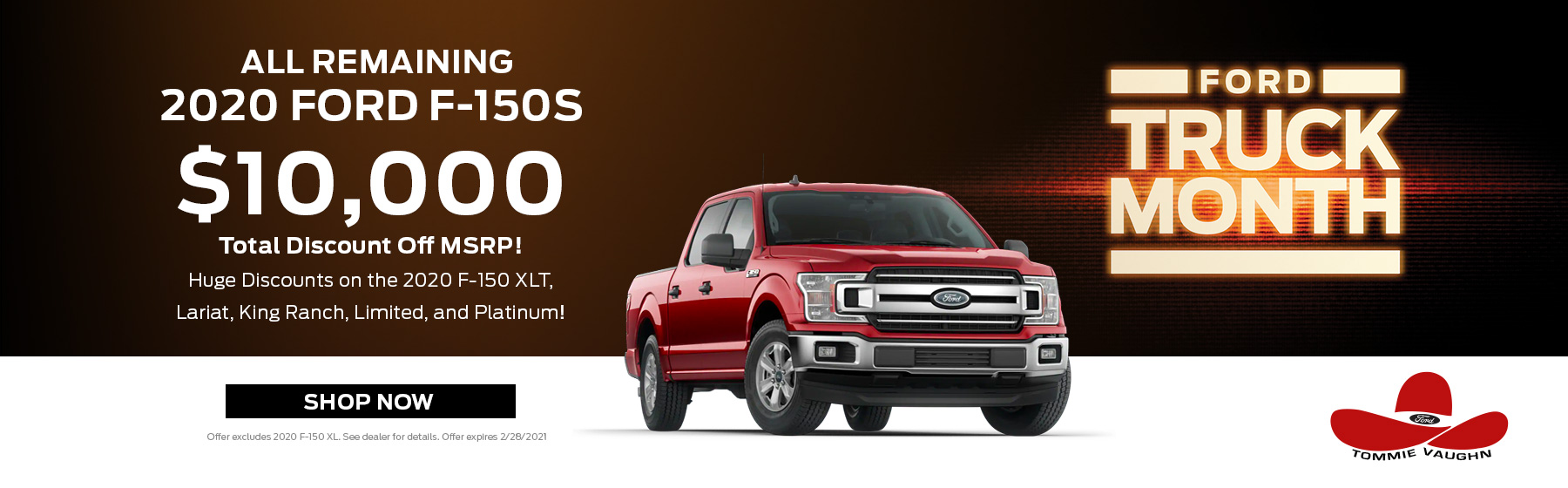 2020 F-150. $10,000 Off Most Trims!
