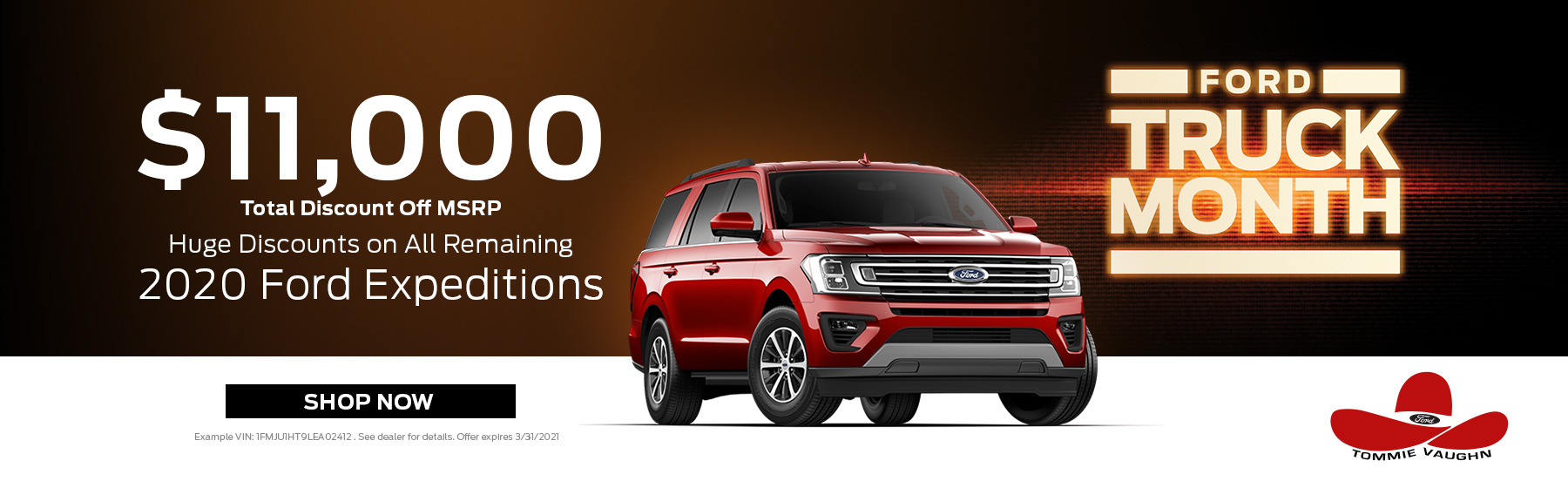2020 Expedition Offer - Truck Month