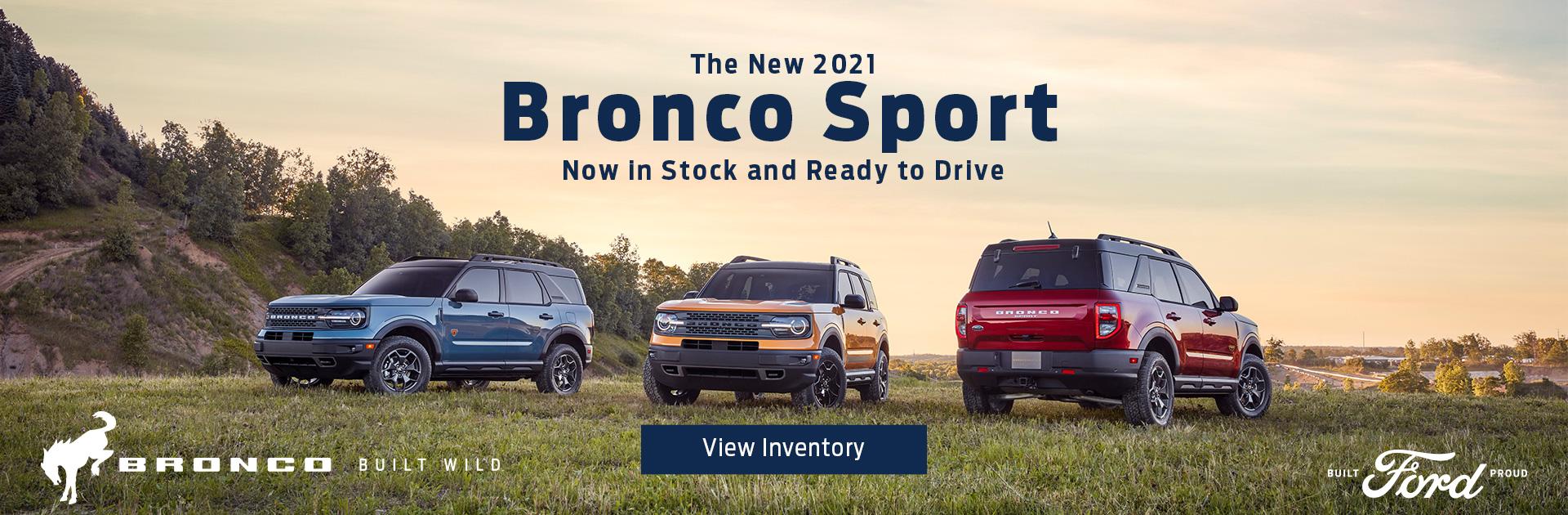 Bronco Sport Now In Stock