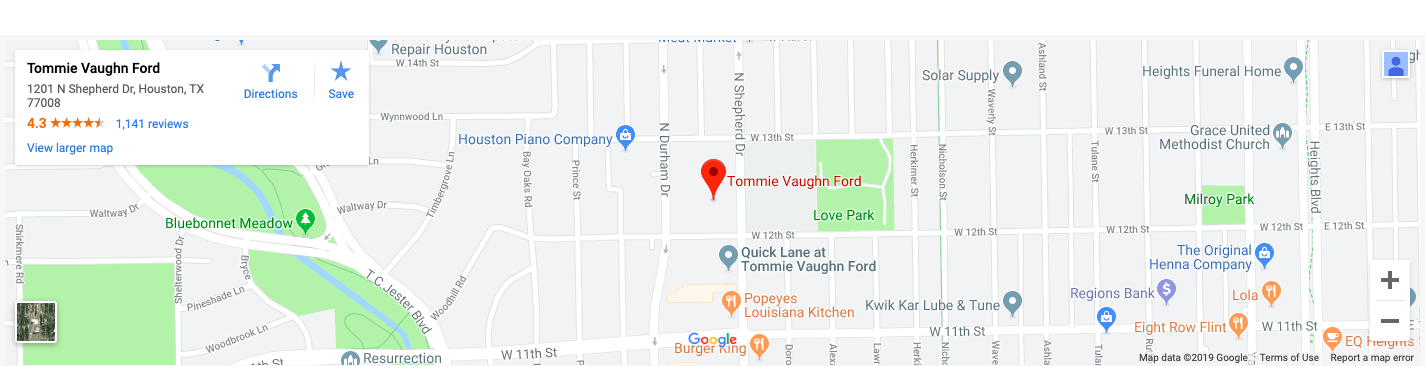 Tommie Vaughn Ford Map