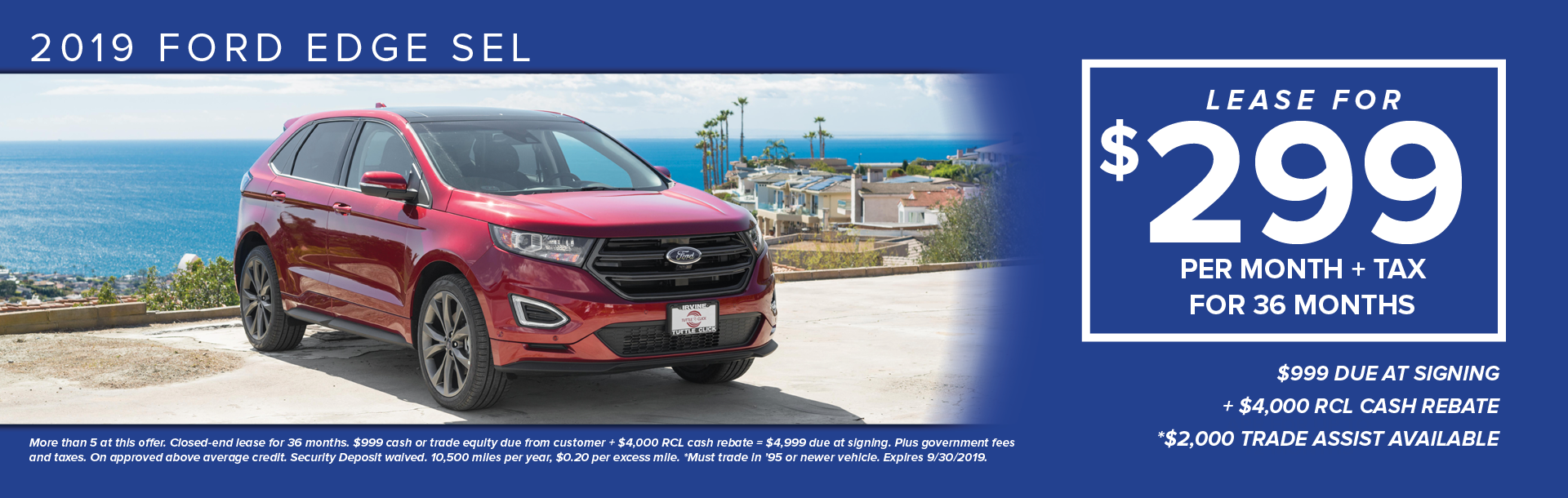 2019 Ford Edge Lease1