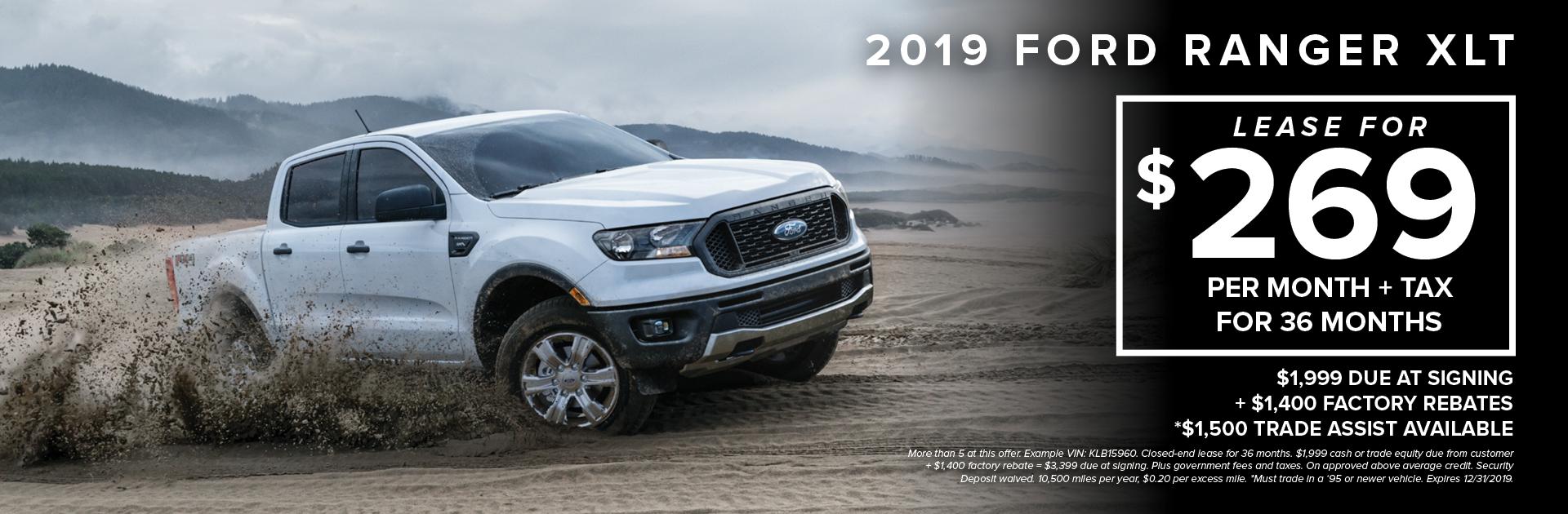 2019 Ford Ranger Xlt Lease3