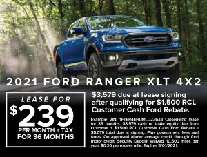 Ford Capo April 2021 Specials