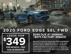 Ford Capo July 4th Specials