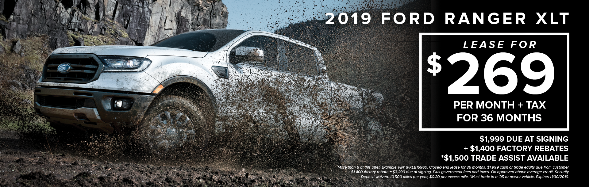 2019 Ford Ranger Xlt Lease1