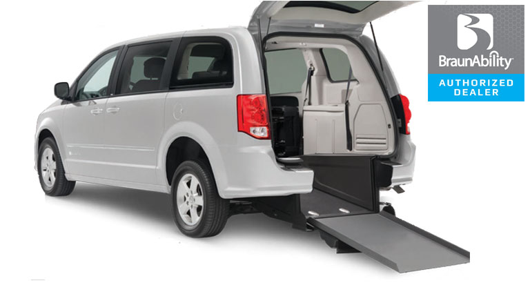 Dodge Wheelchair Van Braun Power Rear Entry