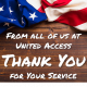 Thank you veterans from United Access