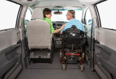 Toyota Wheelchair Van VMI Removable Seating
