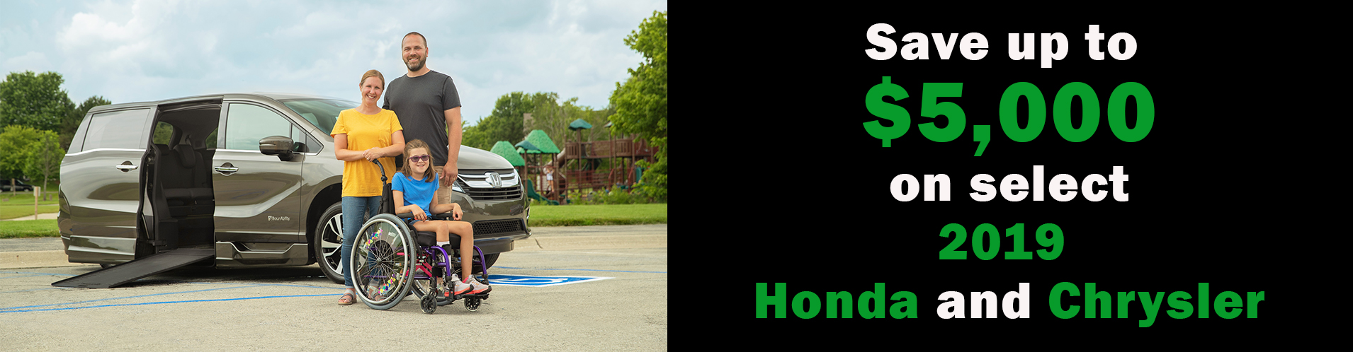 Buy a Honda Odyssey or Chrysler Pacifica wheelchair van from United Access today
