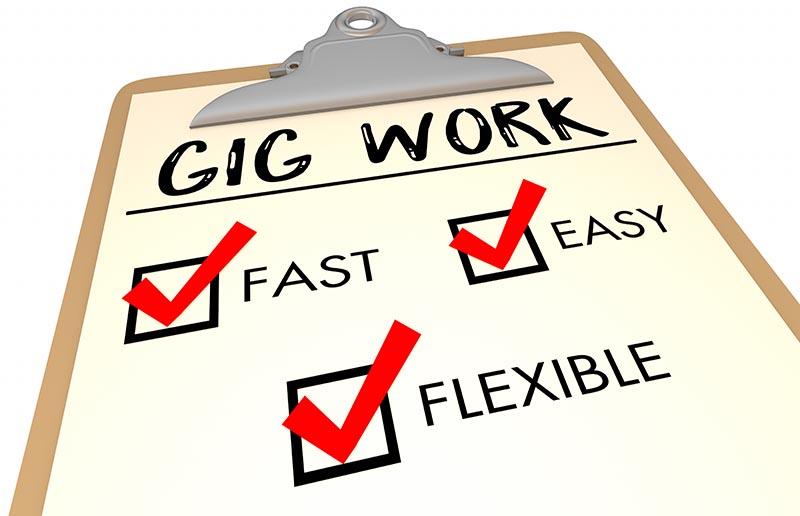 Gig Work Checklist Fast Easy Flexible 3d Illustration