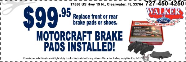 Brake Pad Installation Special