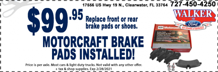 Brake Special Service Coupons