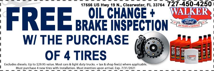 Free Oil Change Coupon