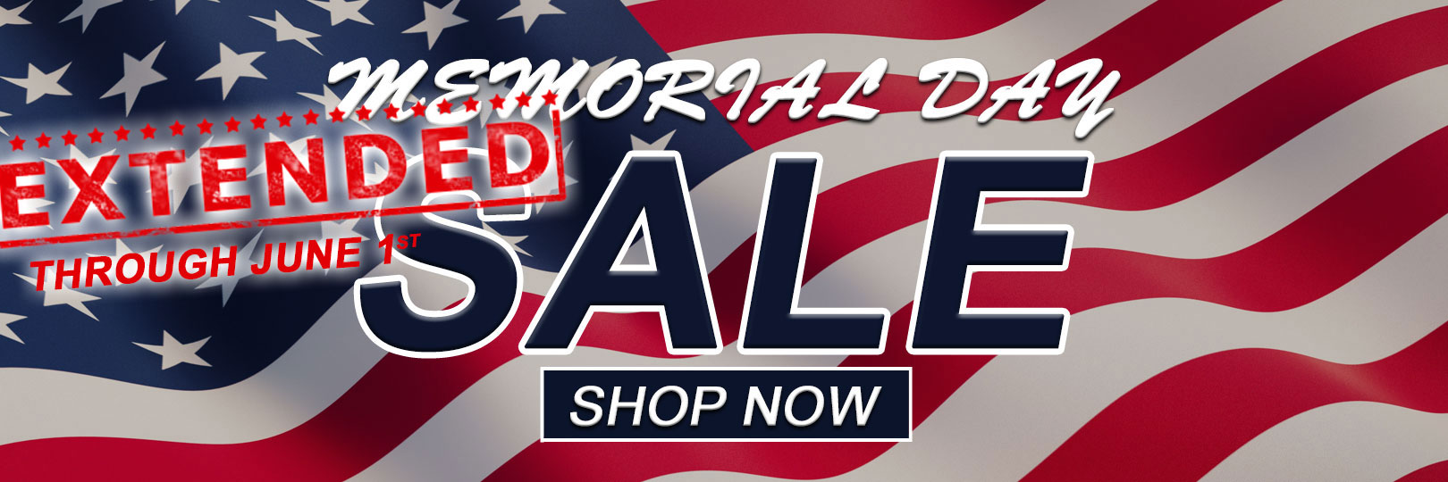 Memorial Day Sale Extended