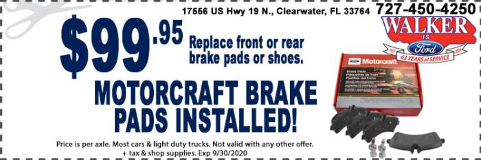 Motorcraft Brakes Special
