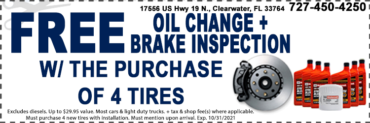 Oil Change And Tires Service Coupon