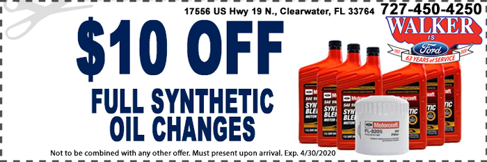 Synthetic Oil Change Service Coupon
