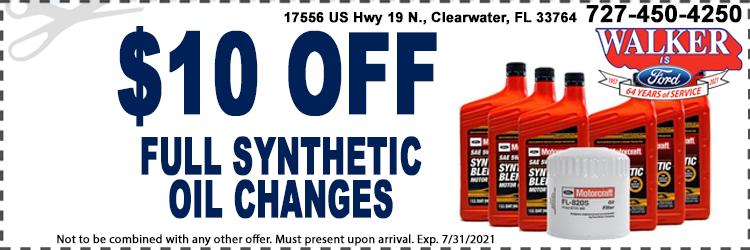 Synthetic Oil Changes Coupon