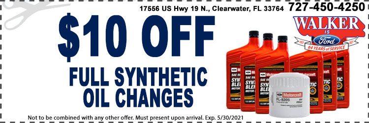 Synthetic Oil Changes Service Coupons