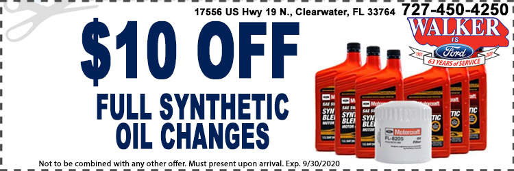 Synthetic Oil Changes Special
