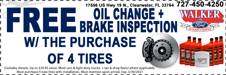Tire Purchase Service Coupons