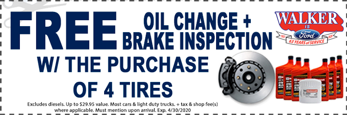 Tires And Oil Change Coupon