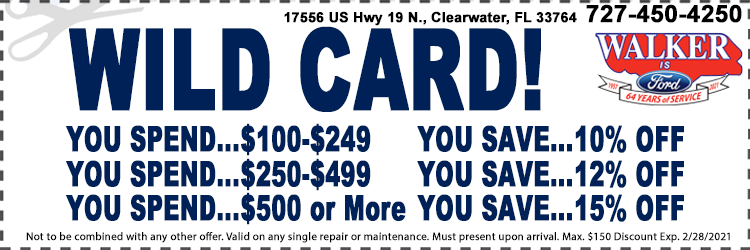 Wild Card Service Coupon Special