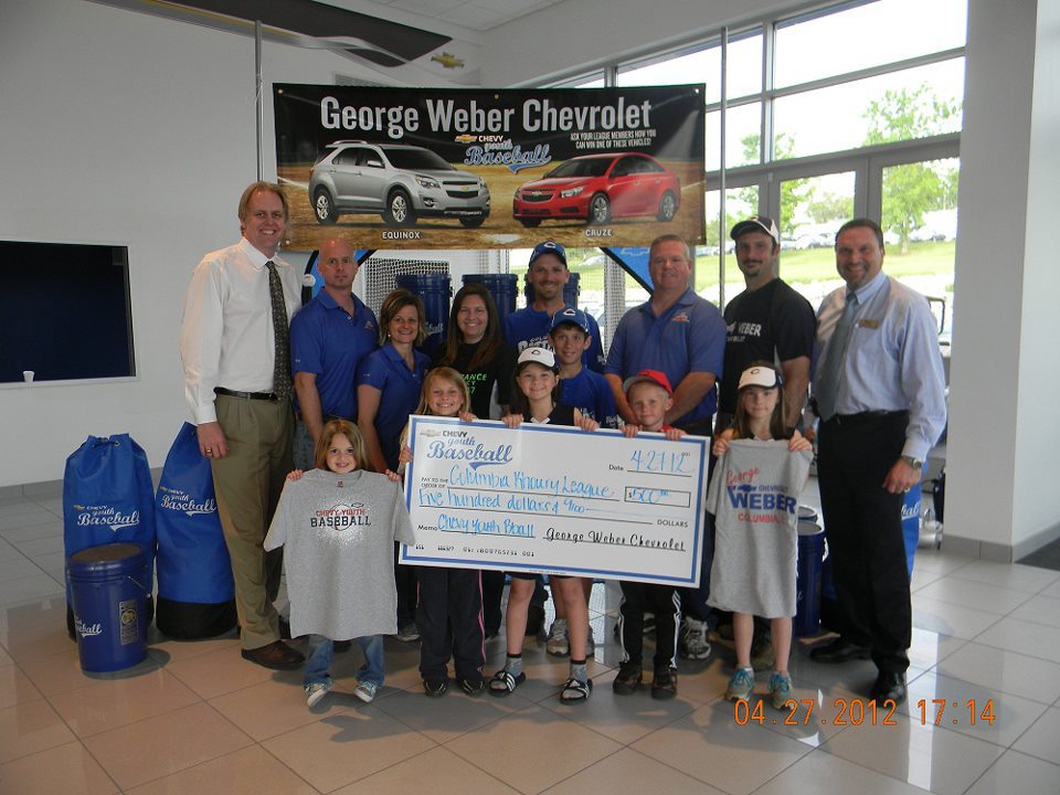 Weber Chevrolet Columbia >> George Weber Chevrolet Donates $500 to the Columbia, IL Khoury League