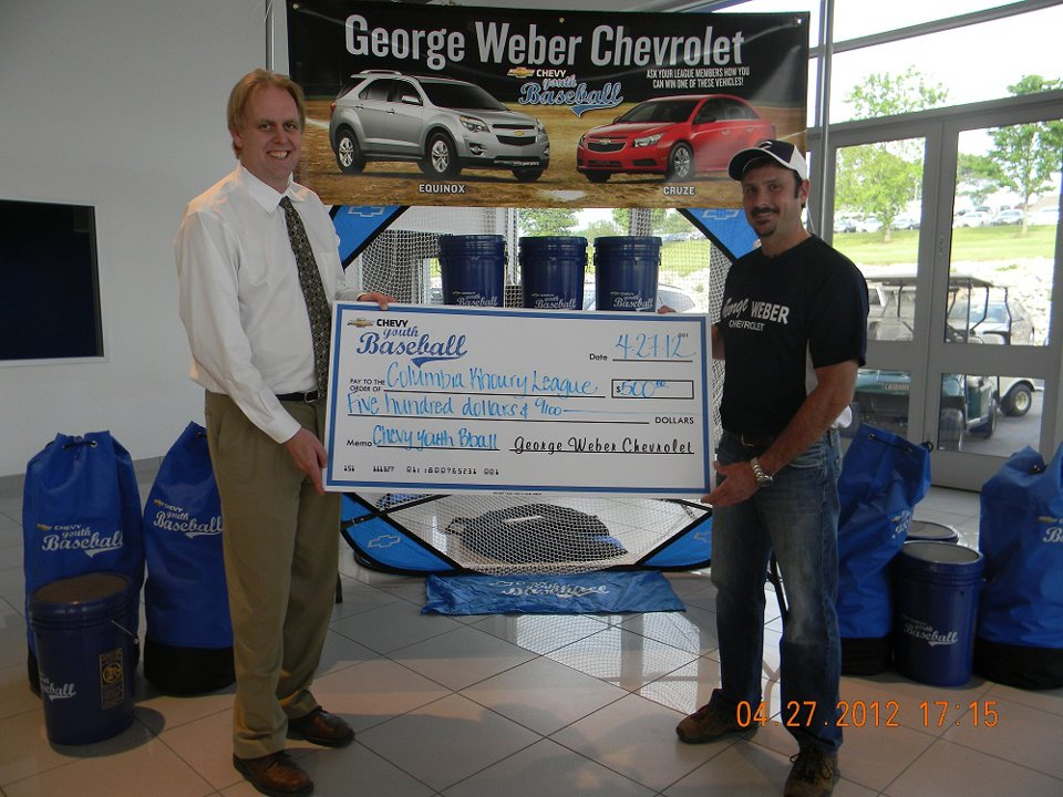 George Weber Chevrolet >> George Weber Chevrolet Donates $500 to the Columbia, IL ...