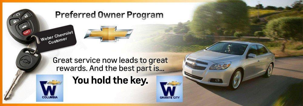 Weber Chevrolet Granite City Il >> Chevrolet Preferred Owner Program St. Louis, Creve Coeur ...