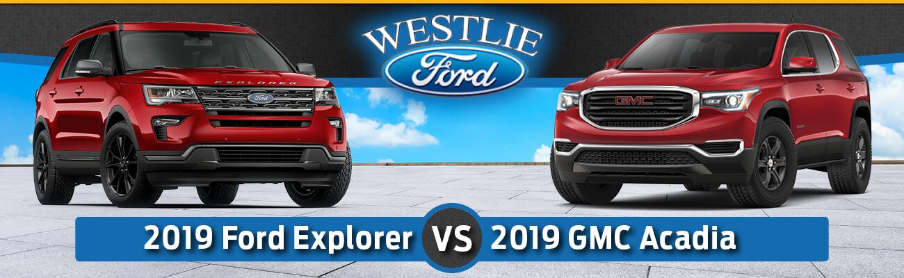 2019 Ford Explorer vs. 2019 GMC Acadia