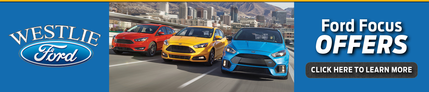 Red, Yellow, & Blue Ford Focus