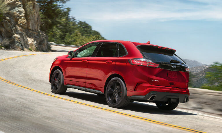 2019 Ford Edge driving mountainside