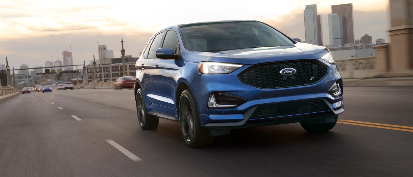 2019 Ford Edge exterior driving out of city