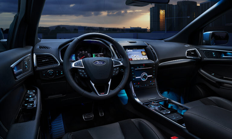 2019 Ford Edge Interior Front at Night