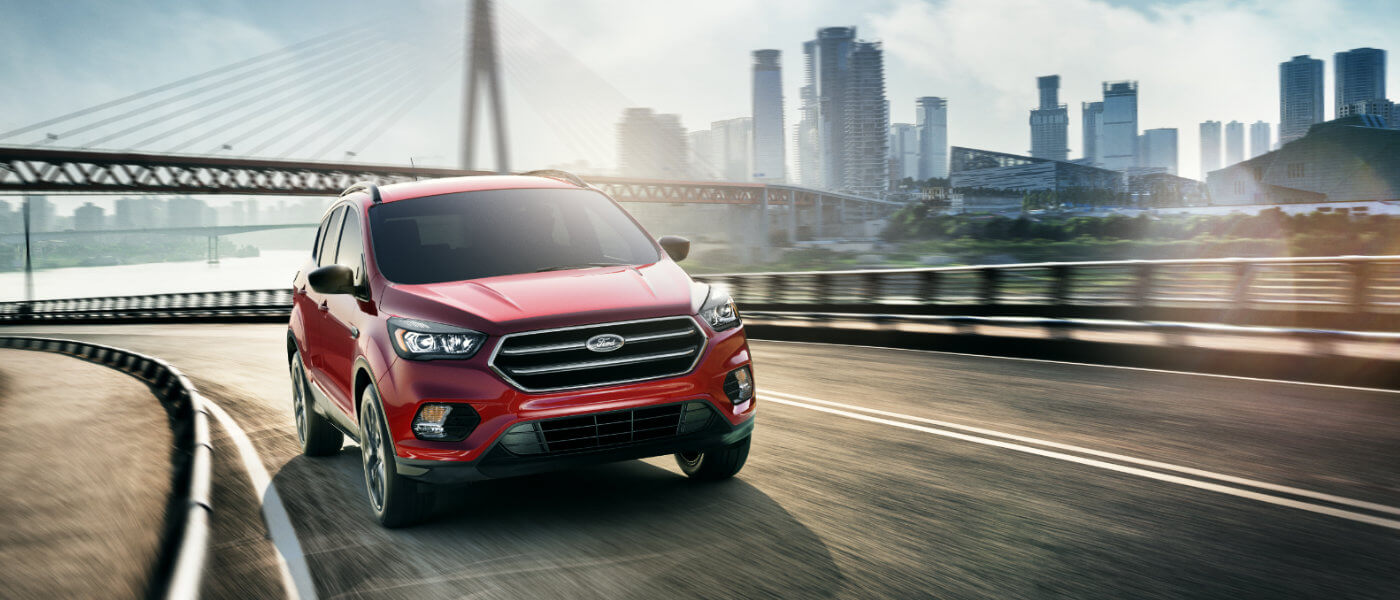 2019 Ford Escape Exterior driving in city near water