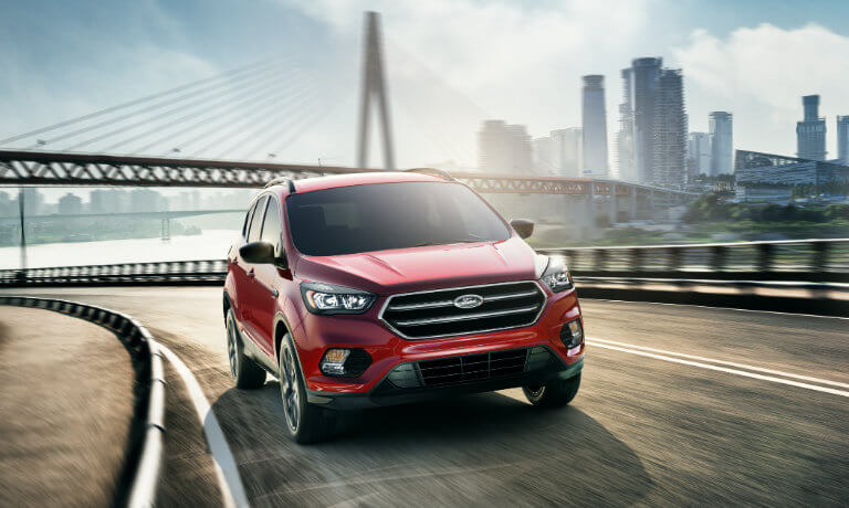 2019 Ford Escape Driving By Water in City