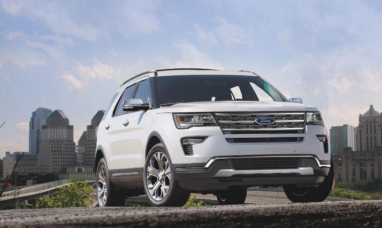 2019 Ford Explorer outside city