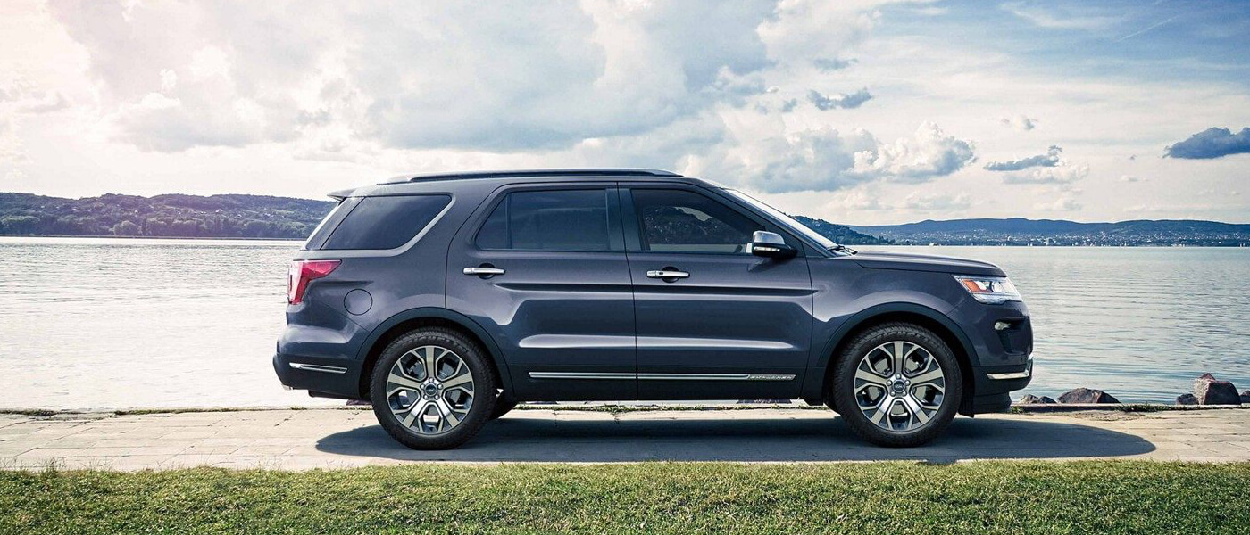 2019 Ford Explorer parked by water