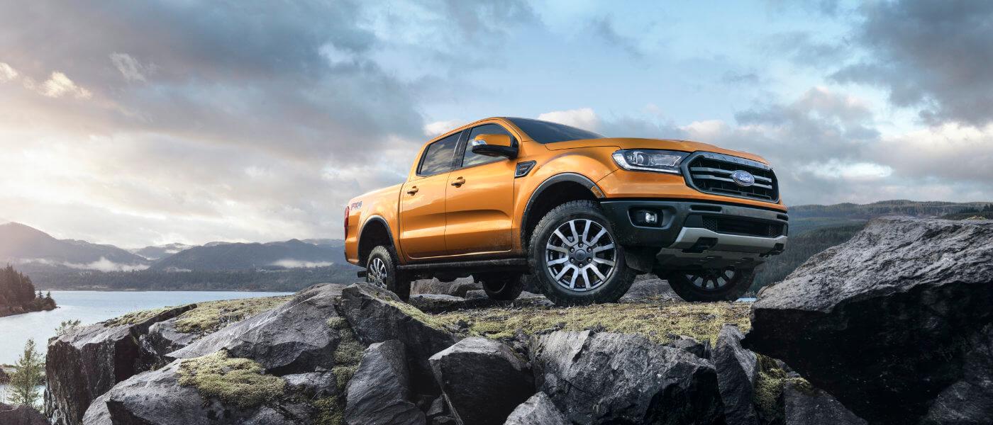 2019 Ford Ranger exterior rocks by ocean