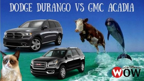 dodge durango vs gmc acadia woody 39 s automotive group. Black Bedroom Furniture Sets. Home Design Ideas