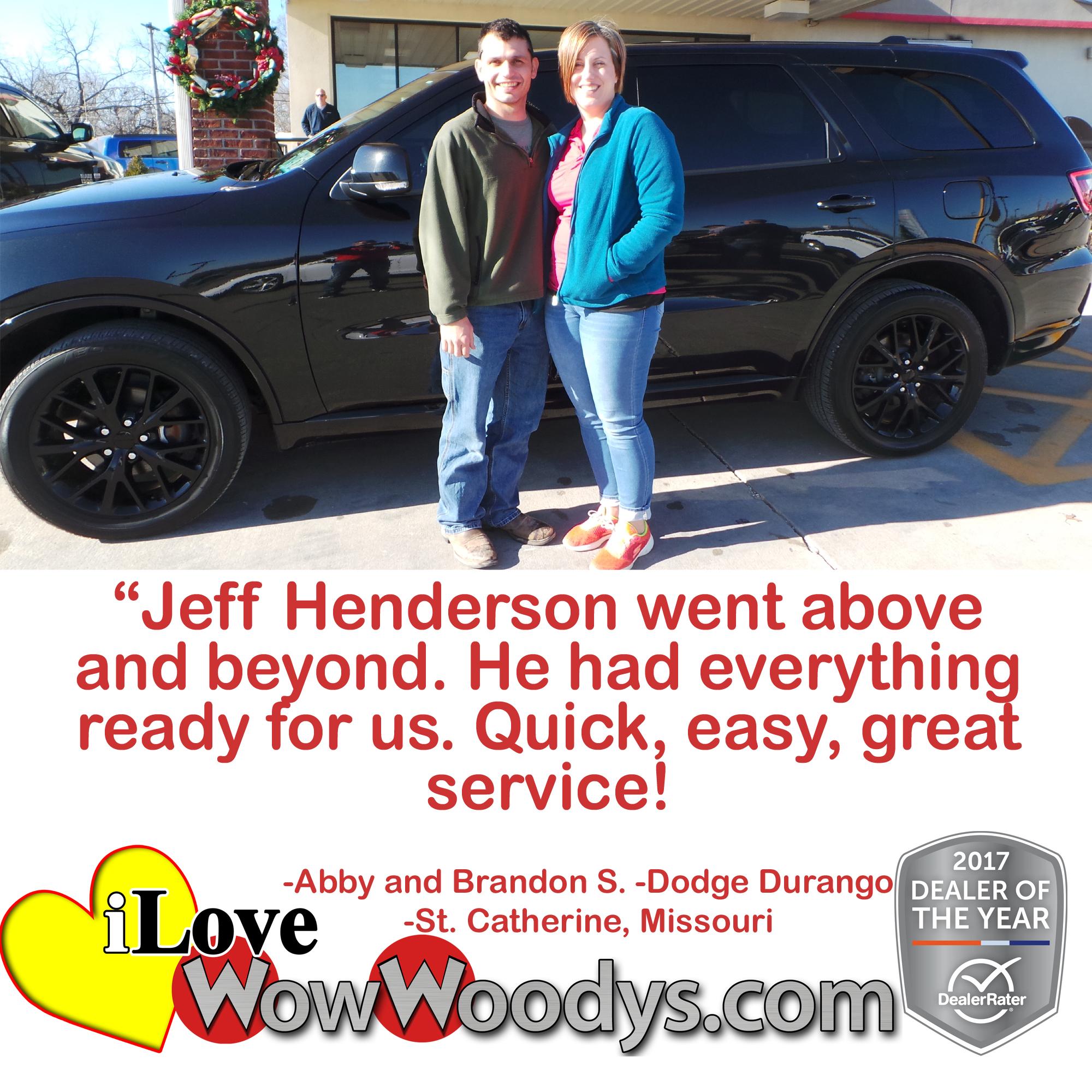 Testimonials November 2017 Woody s Automotive Group