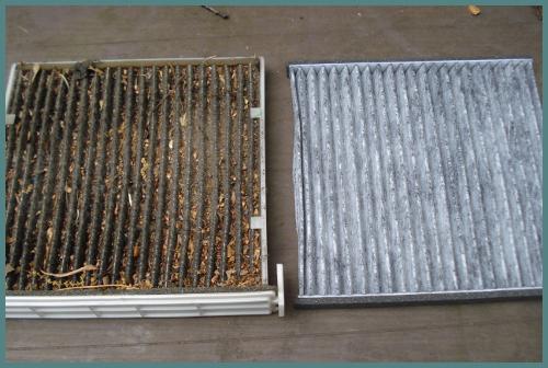 Drity vs clean cabin air filter