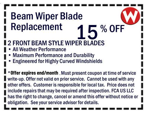 Front End Alignment Coupons >> Chrysler Dodge Jeep Ram Service Specials Coupons Oil