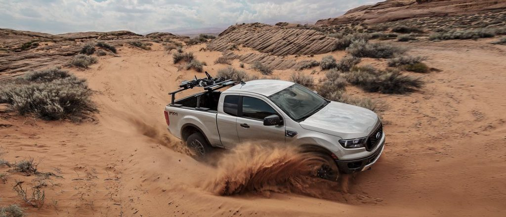 2019 Ford Ranger in the Desert