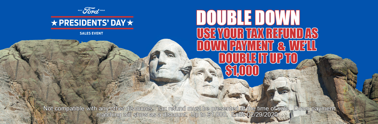 Double Down Presidents Day Banner Website